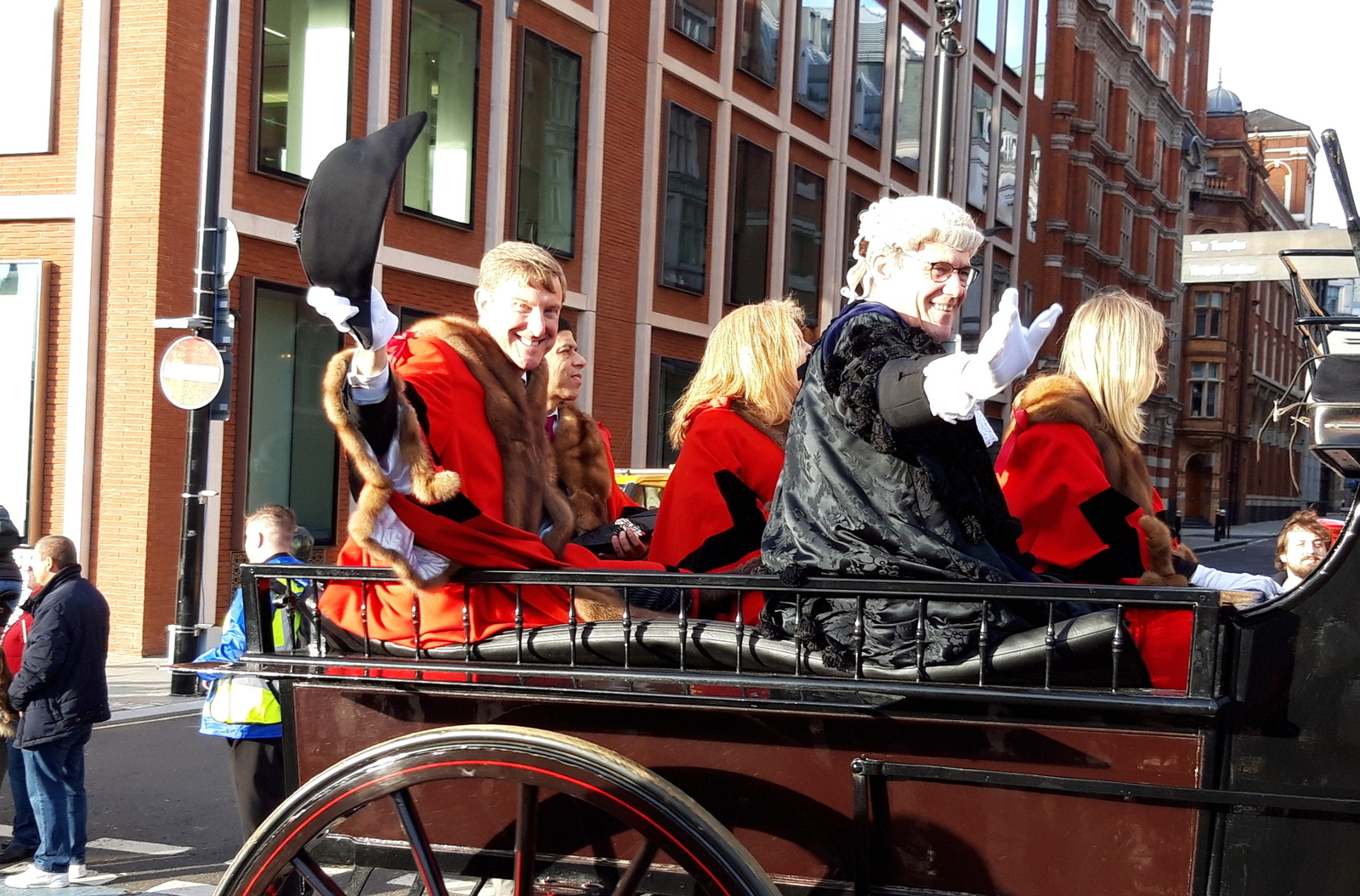 Newly installed Aldermen Robert Hughes in the Lord Mayor's Show