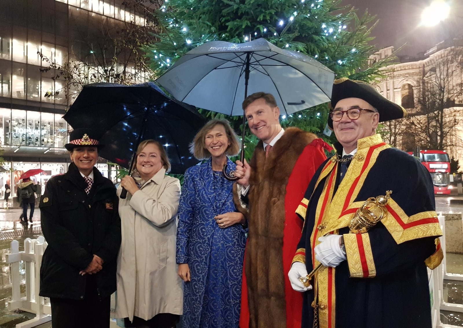 Alderman Robert Hughes-Penney at the 2018 lighting of the Christmas lights on Cheapside