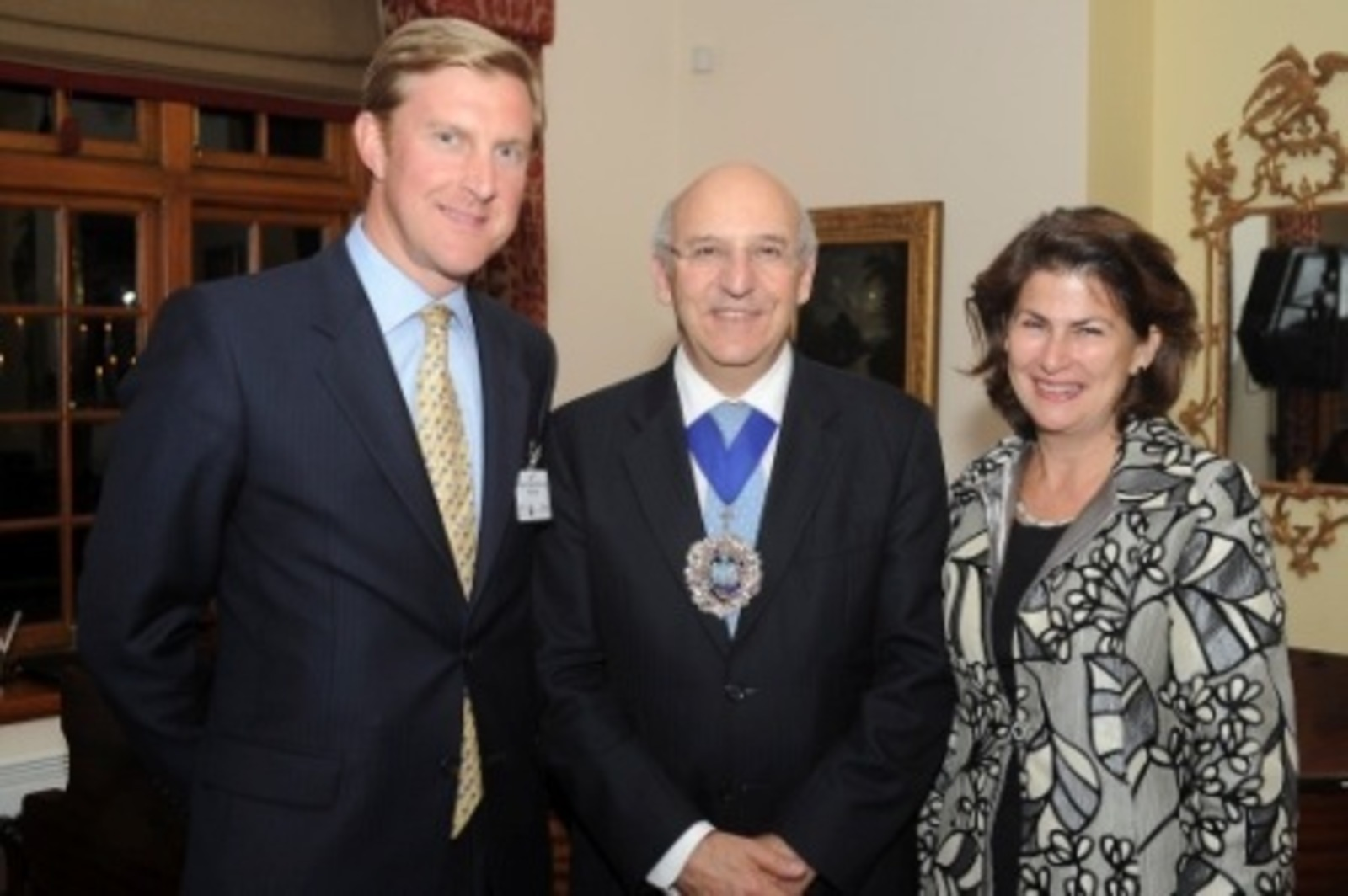 With the past Lord Mayor and Alderman, Sir Michael Bear and the High Commissioner at the reception sponsored by Rathbones at the High Commission in Cape Town